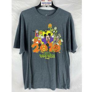 Disney Halloween Adult XL 2010 T-Shirt Mickey Jack